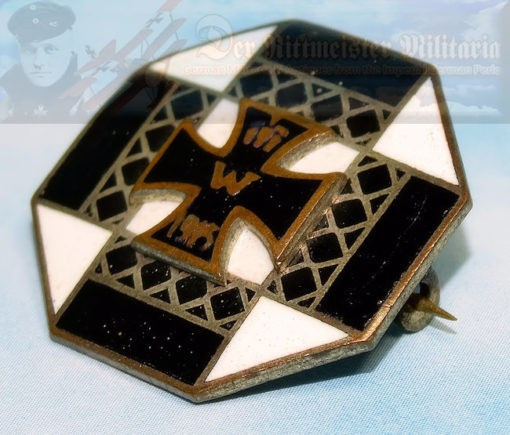 ENAMELED CIRCULAR PATRIOTIC PIN - Imperial German Military Antiques Sale