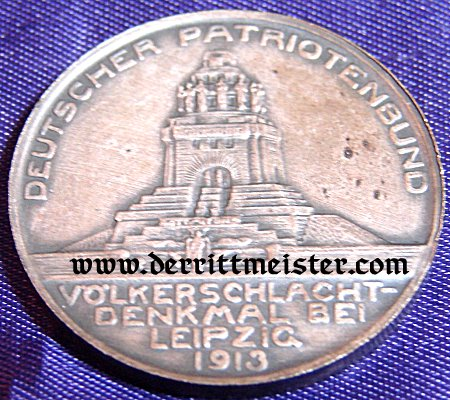 TABLE MEDAL - 100-YEAR-COMMEMORATIVE - VÖLKERSCHLACHT DENKMAL LEIPZIG - ORIGINAL PRESENTATION CASE - Imperial German Military Antiques Sale