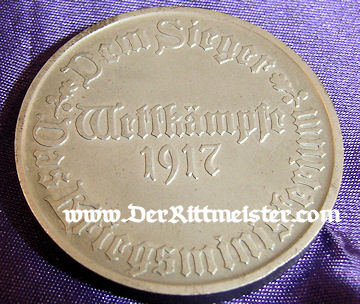 TABLE MEDAL - CASED - Imperial German Military Antiques Sale