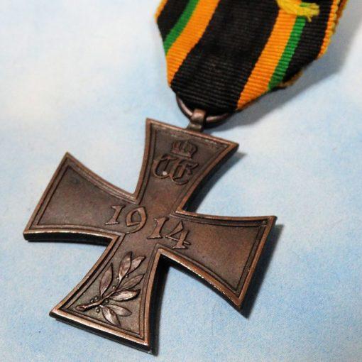 SAXE-COBURG UND GOTHA - WAR HONOR SERVICE BADGE - 2nd CLASS - Imperial German Military Antiques Sale