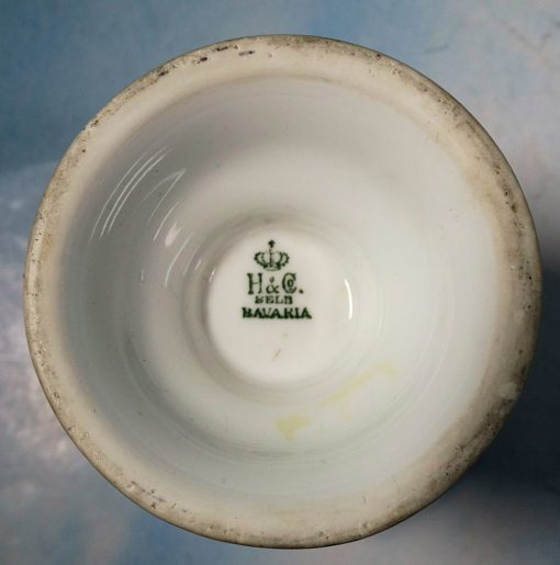 PATRIOTIC PORCELAIN WINE GOBLET - FROM NOTED FIRM H & C SELB - Imperial German Military Antiques Sale