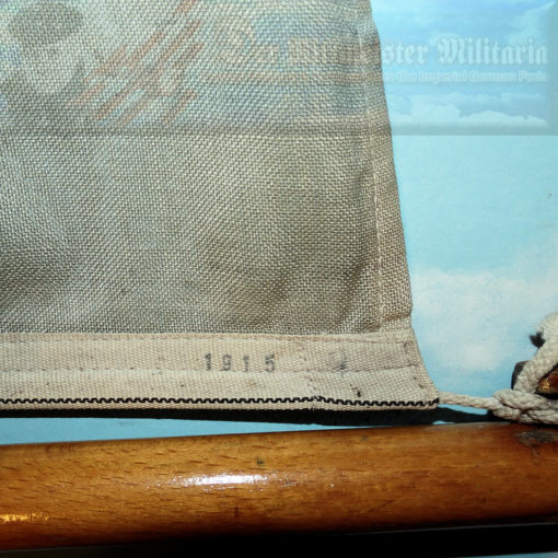 FLAG - KRIEGSFLAGGE - KAISERLICHE MARINE SHIP WITH A PARTIAL FLAGSTAFF - Imperial German Military Antiques Sale