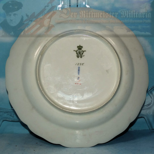 DINNER PLATE - PERSONAL TABLE SERVICE - KAISER WILHELM II - Imperial German Military Antiques Sale