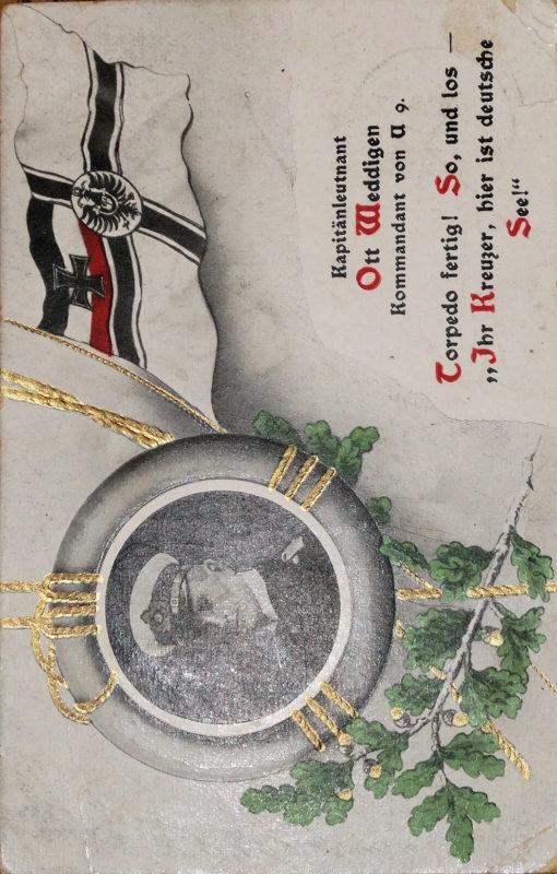 PRUSSIA - POSTCARD - KAPITÄNLEUTNANT OTTO WEDDIGEN - NAVY - PLM-WINNER - COMMANDER OF U-9 AND U-29