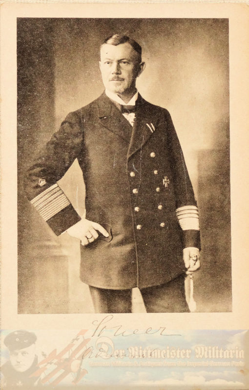 PRUSSIA - POSTCARD - ADMIRAL REINHARD SCHEER - NAVY - WITH REPRODUCTION AUTOGRAPH