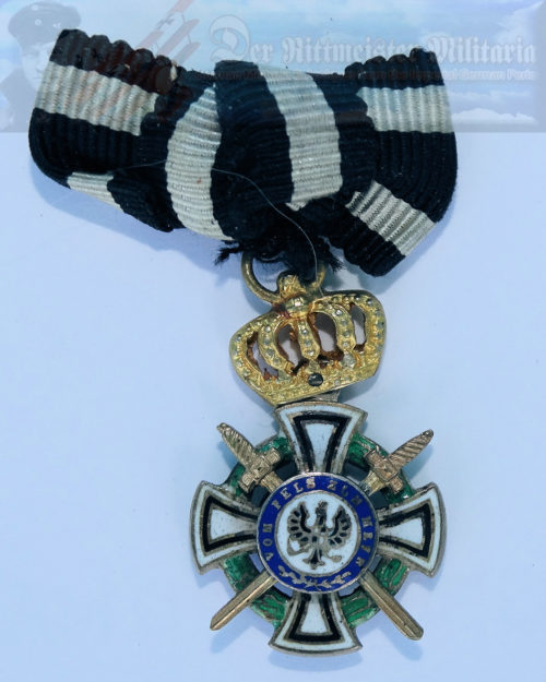 PRUSSIA - KNIGHT'S CROSS WITH SWORDS OF THE HOHENZOLLERN HOUSE ORDER - MINIATURE