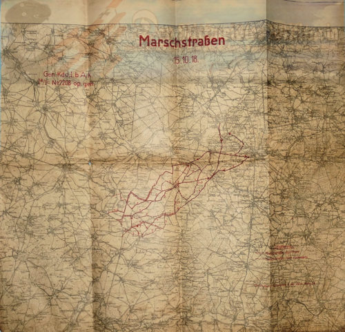 GERMANY - MAP - ARMY MILITARY - MARCHSTRAßEN - Imperial German Military Antiques Sale